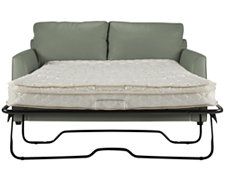 Paige Green Bonded Leather Sleeper