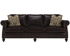 Brae Dk Brown Leather Sofa