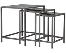 Carissa Glass Nesting End Table
