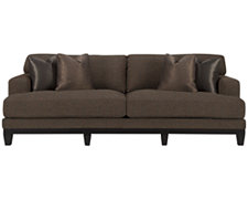 Barrie Dk Brown Fabric Sofa