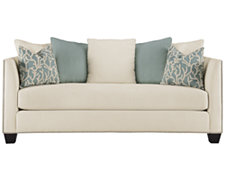 Briget Teal Fabric Sofa