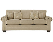 Aerin Lt Brown Fabric Sofa