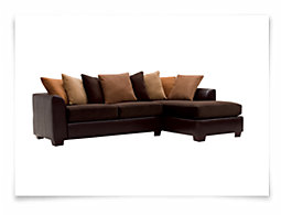 Safari Two-Tone Microfiber Right Chaise Sectional