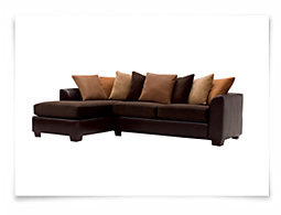 Safari Two-Tone Microfiber Left Chaise Sectional