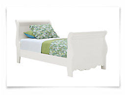 Lauren White Sleigh Bed