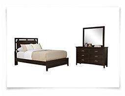 Ridgeway Dark Tone Platform Bedroom