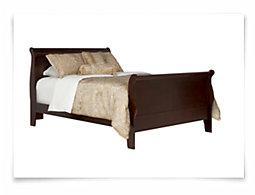 Lilian Dark Tone Sleigh Bed
