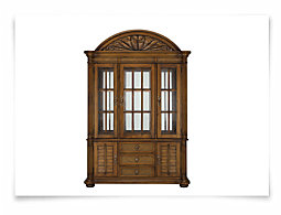 Palm Mid Tone China Cabinet