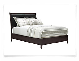 Ivy Dark Tone Upholstered Platform Bed