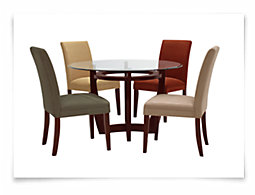 Park Round Glass Table & 4 Chairs