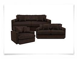 Tara2 Dk Brown Microfiber Living Room