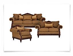 Ella Md Brown Fabric Living Room