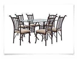 Denali Rectangular Glass Table & 4 Chairs