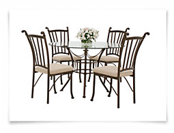 Denali Round Glass Table & 4 Chairs