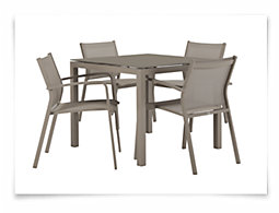 "Lisbon Khaki 36"" Square Table & 4 Chairs"