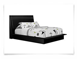 Dimora3 Black Wood Platform Bed