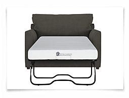 Express3 Dk Gray Microfiber Memory Foam Sleeper