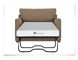 Express3 Lt Brown Microfiber Memory Foam Sleeper