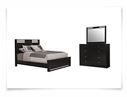 Gianna Dark Tone Panel Bedroom