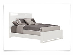 Gianna White Panel Bed