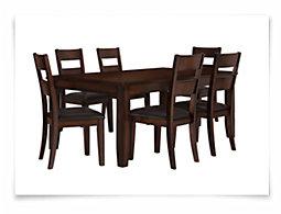 Mango2 Dark Tone Rectangular Table & 4 Chairs