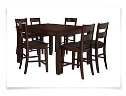 Mango2 Dark Tone High Table & 4 Barstools