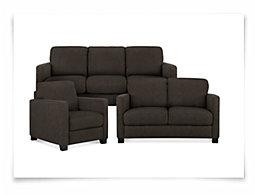 Hunter Dk Gray Fabric Living Room