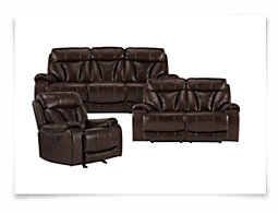 Tacoma Dk Brown Microfiber Power Reclining Living Room