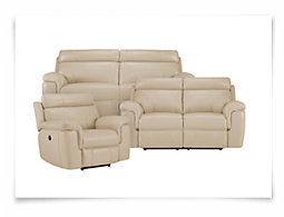 Gamma Beige Microfiber Power Reclining Living Room