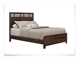 Andora Mid Tone Panel Bed