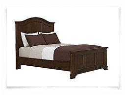 Claire Dark Tone Panel Bed