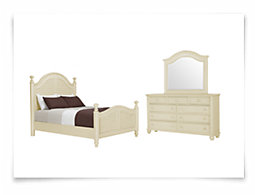 Claire White Poster Bedroom