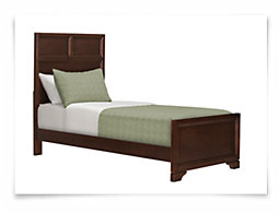 Klyne Dark Tone Panel Bed