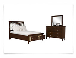 Sao Paolo Dark Tone Panel Storage Bedroom