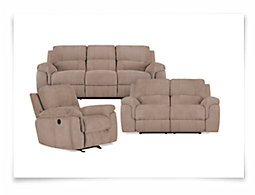 Gibson Beige Microfiber Power Reclining Living Room