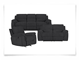Gibson Dk Gray Microfiber Power Reclining Living Room