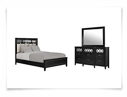 Glamour Black Panel Bedroom