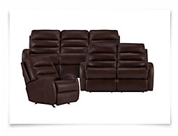 Carver Brown Microfiber Power Reclining Living Room