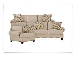 Bonita Beige Fabric Living Room