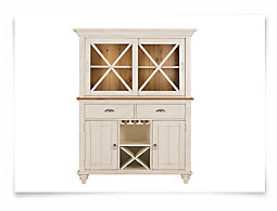 Ocean Isle Two-Tone China Cabinet