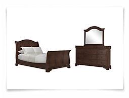 Cameron Dark Tone Sleigh Bedroom