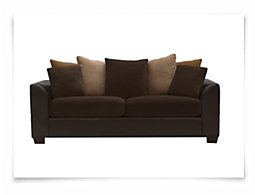 Safari Two-Tone Microfiber Sofa