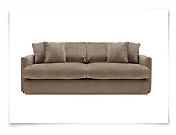 Tara2 Dk Taupe Microfiber Sofa