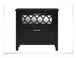 Glamour Black Nightstand