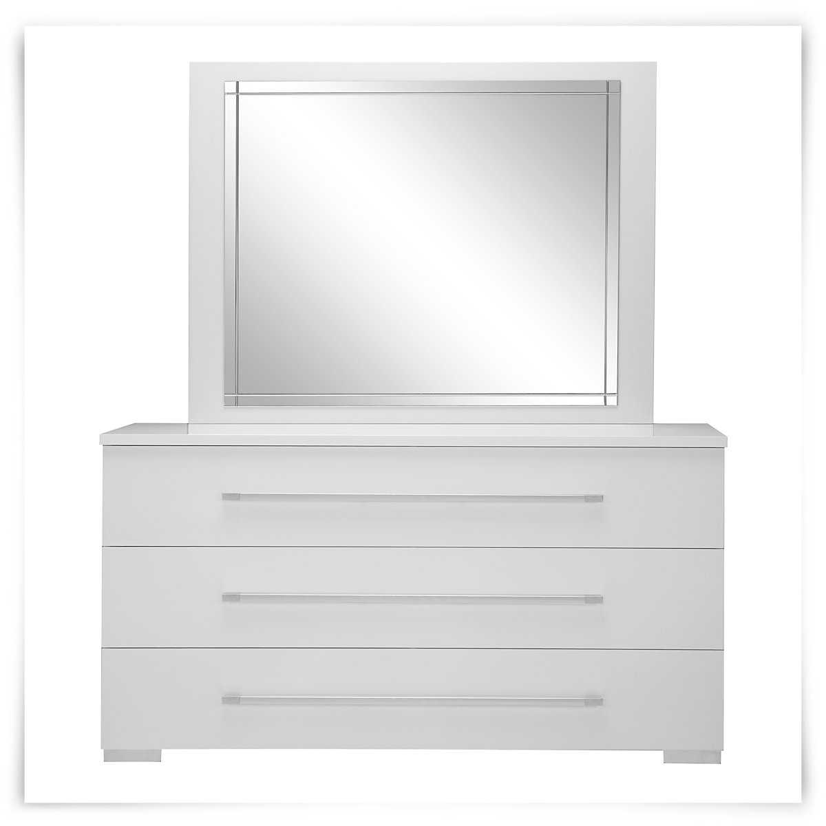 dimora white dresser mirror