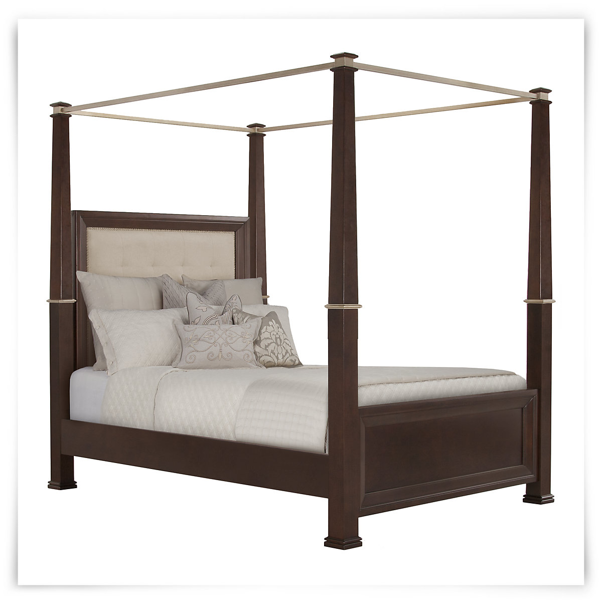 City Furniture Canyon Mid Tone Upholstered Canopy Bed