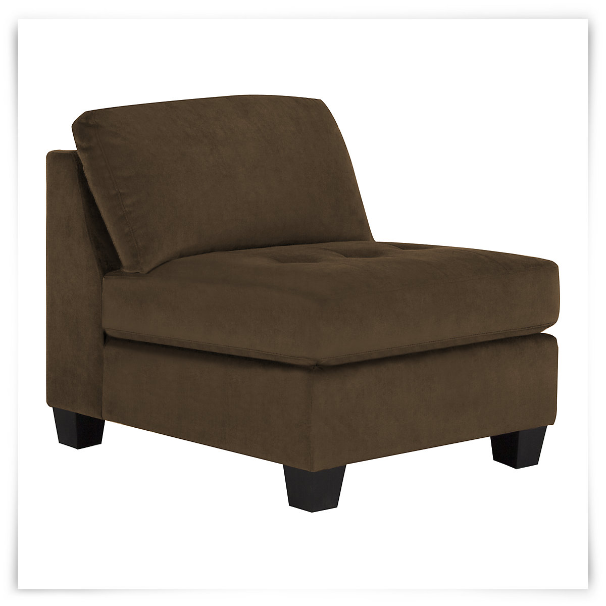 City Furniture Mercer2 Dk Brown Microfiber Armless Chair