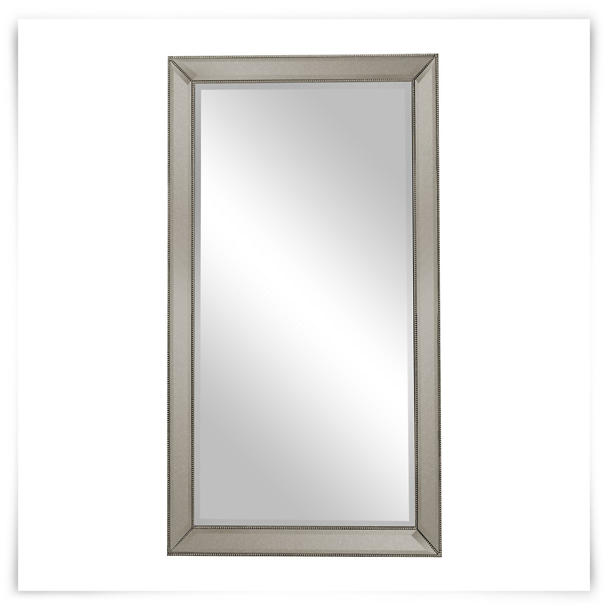 Adiva Silver Leaning Mirror