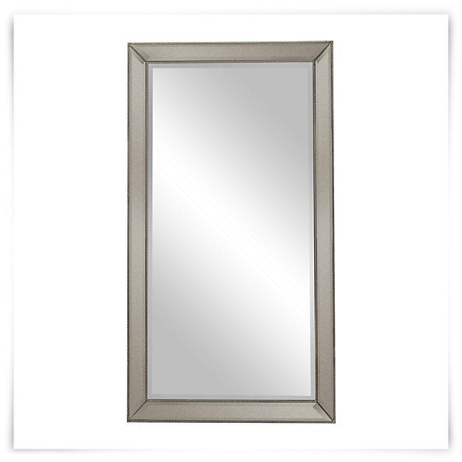 Adiva Silver Leaning Mirror