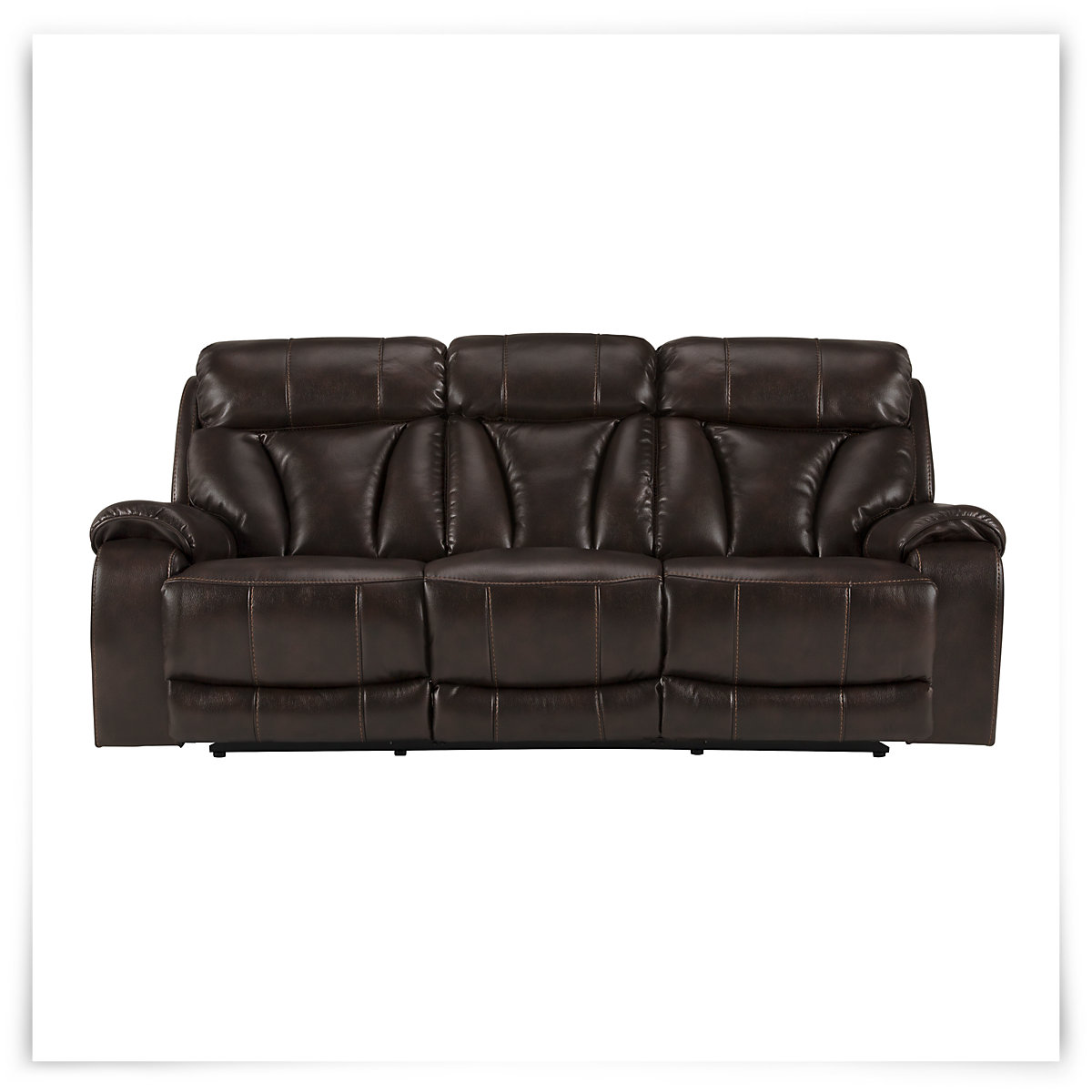 Black Microfiber Reclining Sofa